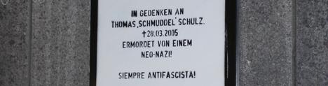 Gedenktafel für Thomas Schulz