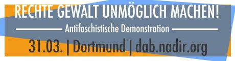 Antifa-Demo gegen rechte Gewalt am 31.03. in Dortmund